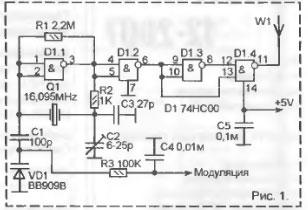 Передатчик на 144 МГц на микросхеме 74НС00