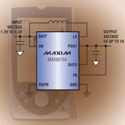 MAX8815A - эффективный повышающий преобразователь постоянного тока