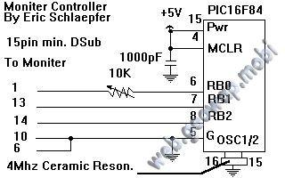 Тестер для проверки мониторов на PIC-контроллере