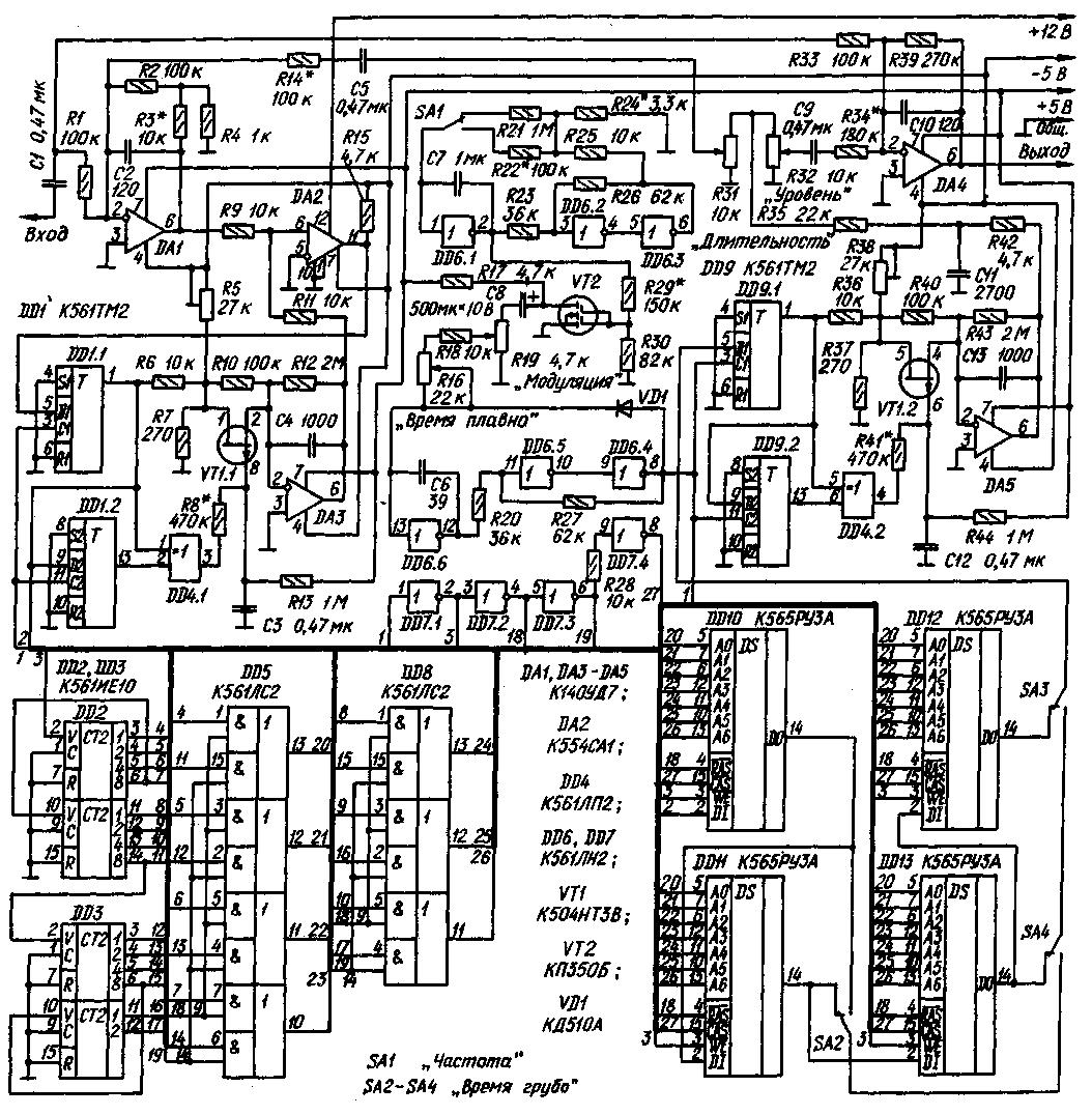 ...у меня такой вопрос и интерес собрал я давненько цифровой ревербератор на советских микросхемах по схеме...
