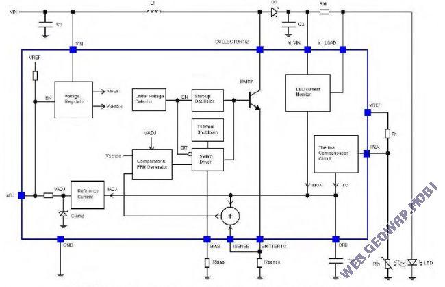 Драйвер светодиодов ZXLD1321 с выходным током до 1А