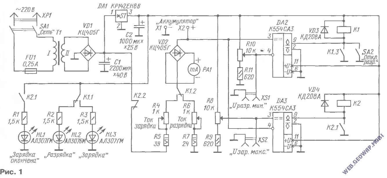 Зарядное электрон 3м схема фото 742