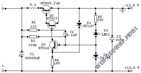 Cтабилизатор напряжения с защитой от перегрузок 13,8V/10A