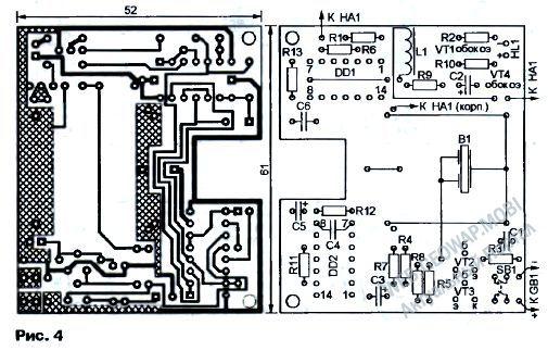 схема сигнализатора поклевки - Микросхемы.