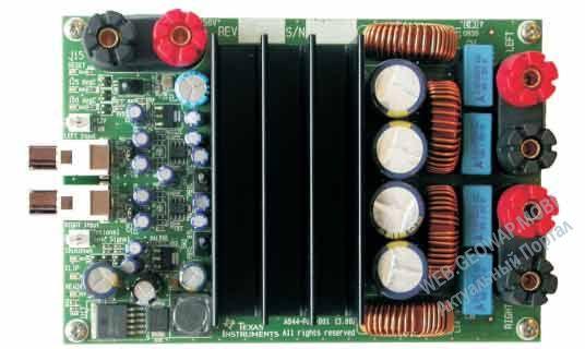 Оценочный модуль для цифрового аудио усилителя TAS5613PHD